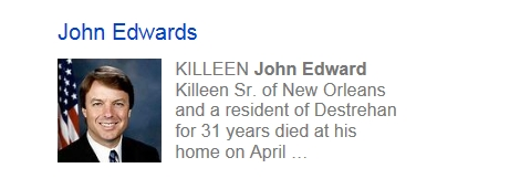 John Edwards dead?